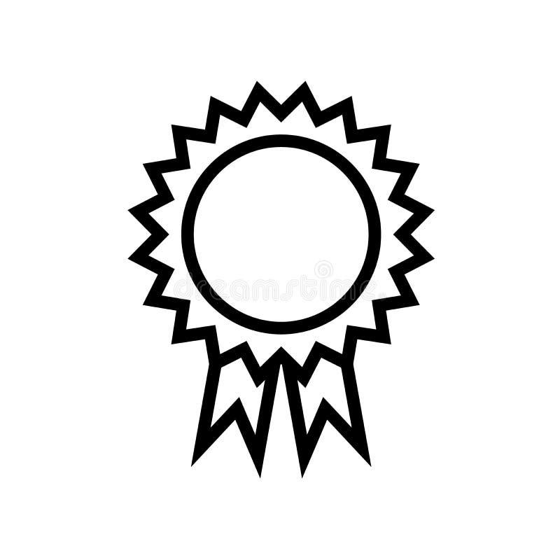 Línea icono de la medalla con la cinta ilustración del vector