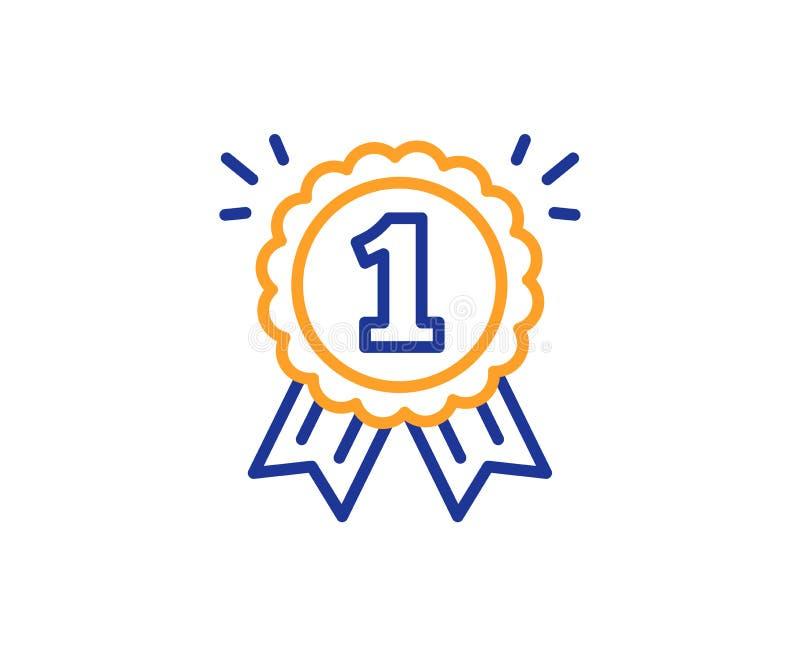 Línea icono de la medalla de la recompensa Logro del ganador Vector ilustración del vector