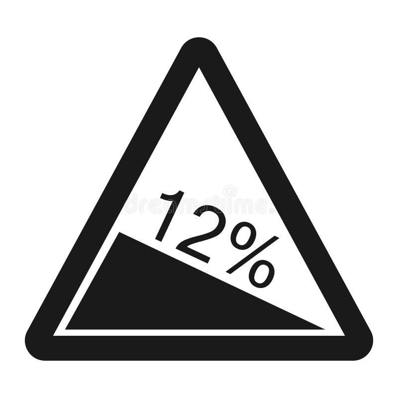Línea icono de la muestra de la pendiente escarpada ilustración del vector