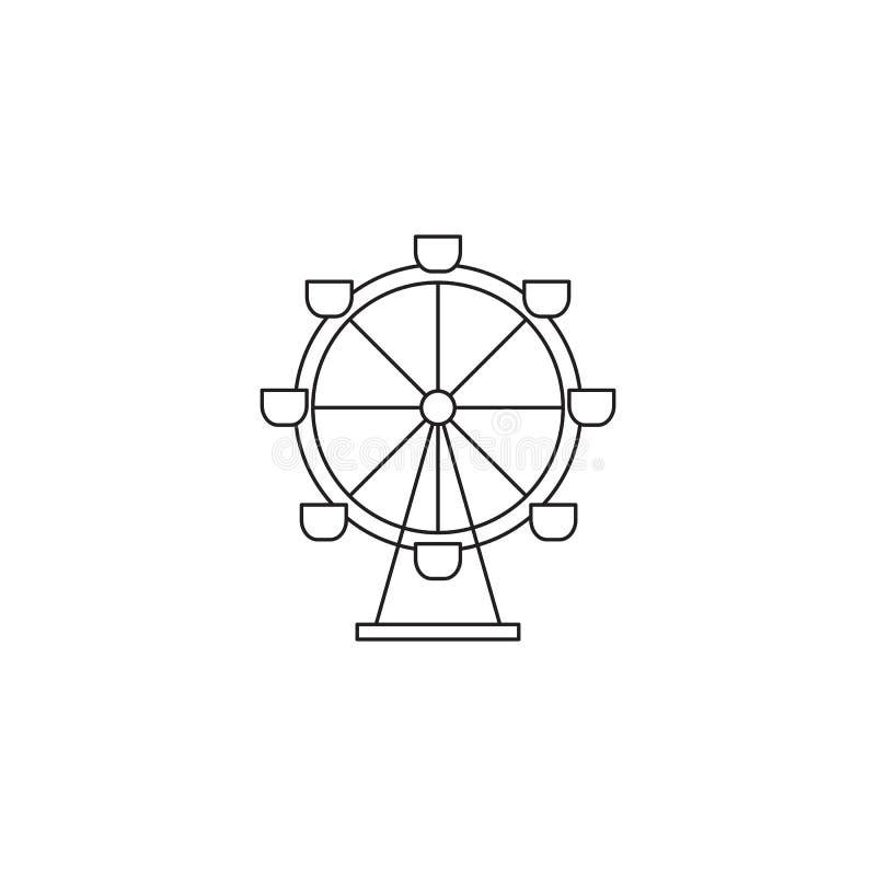 Línea icono de la noria ilustración del vector