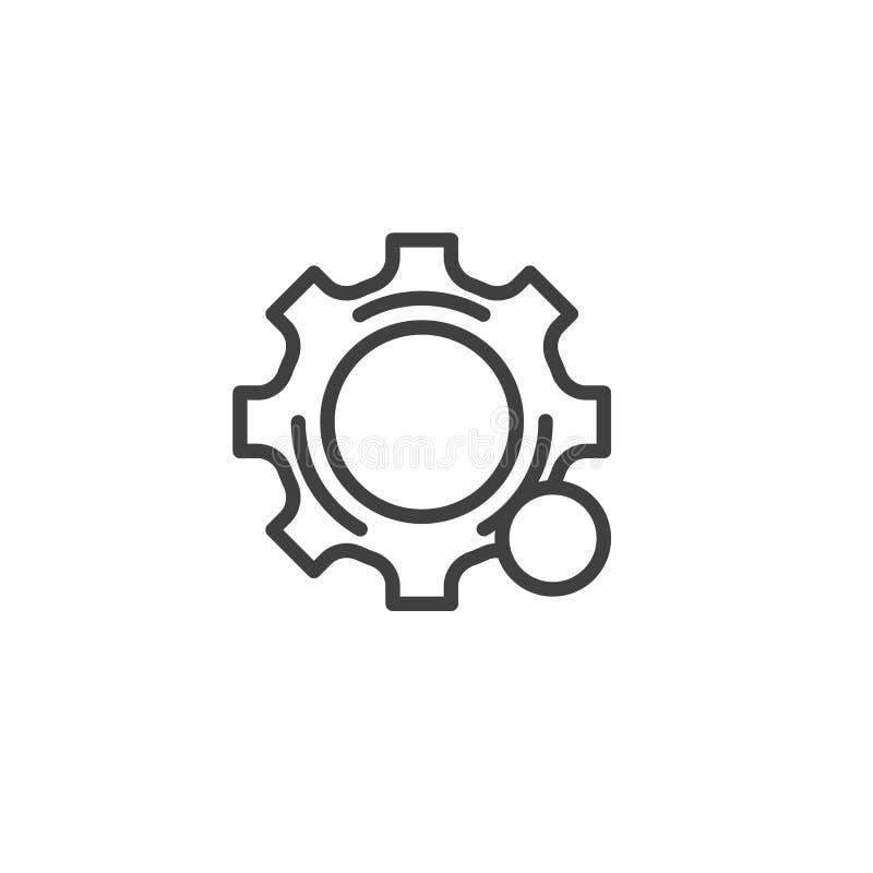 Línea icono de la notificación de los ajustes libre illustration
