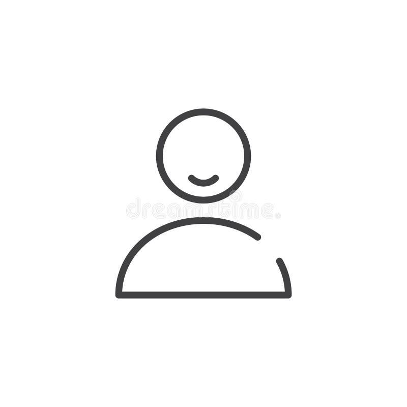 Línea icono de la persona del usuario libre illustration