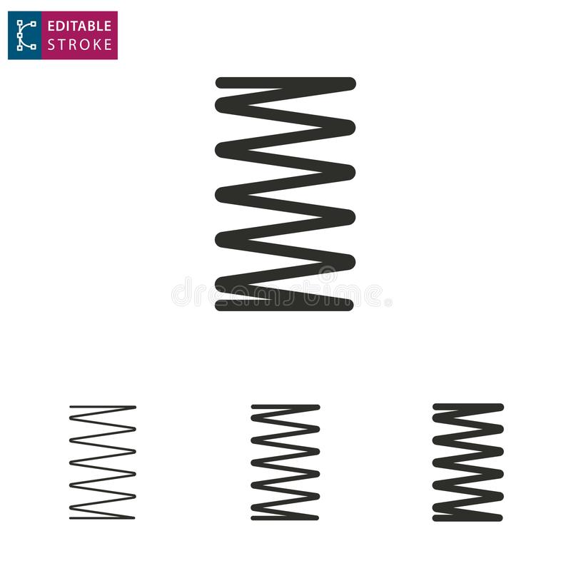 Línea icono de la primavera en el fondo blanco Movimiento Editable libre illustration