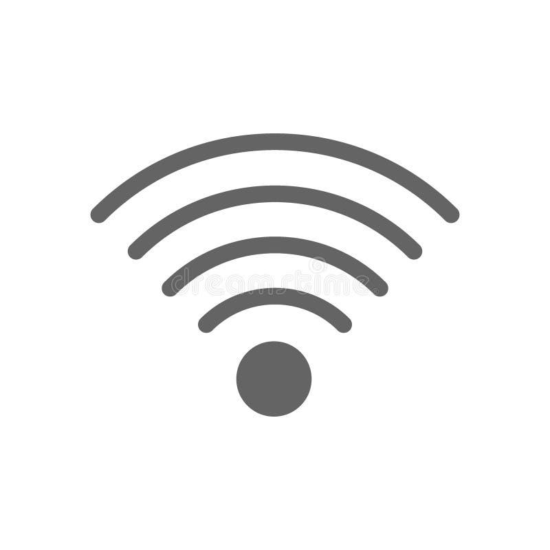 L?nea icono de la radio y del wifi stock de ilustración