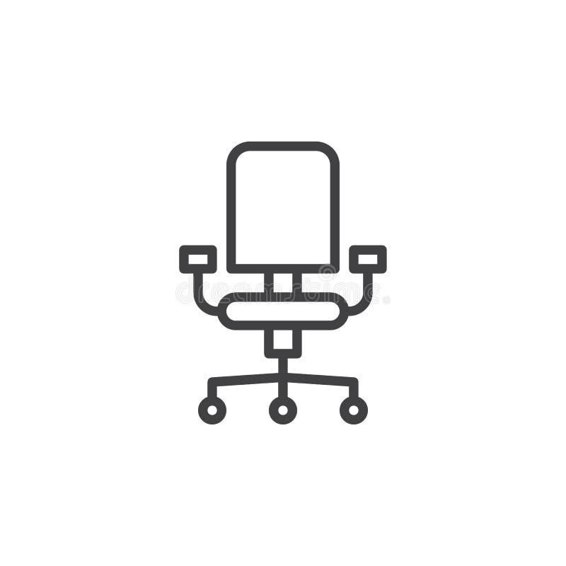 Línea icono de la silla de la oficina ilustración del vector