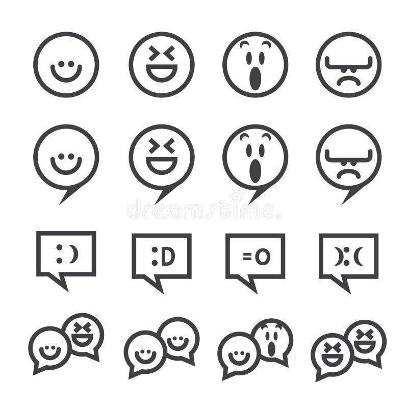 Línea icono de la sonrisa libre illustration