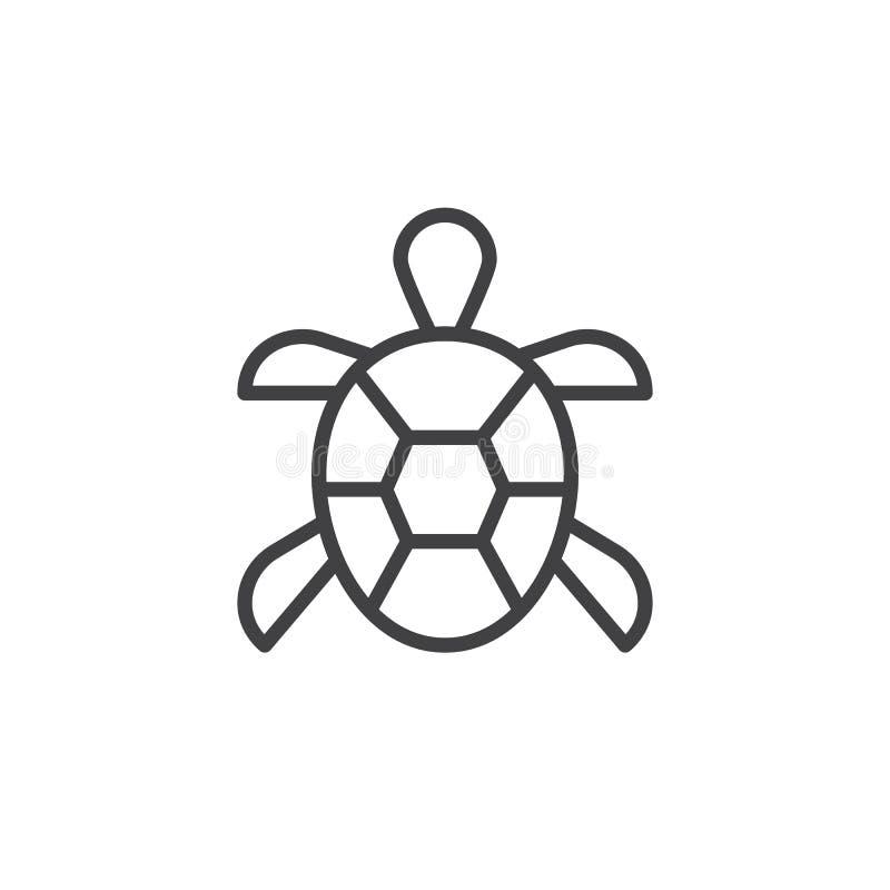 Línea icono de la tortuga libre illustration
