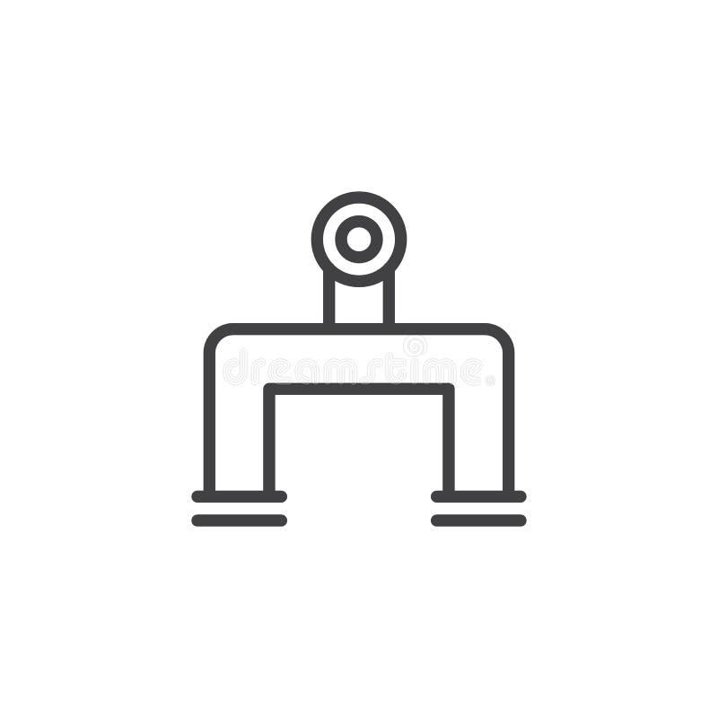 Línea icono de la tubería libre illustration