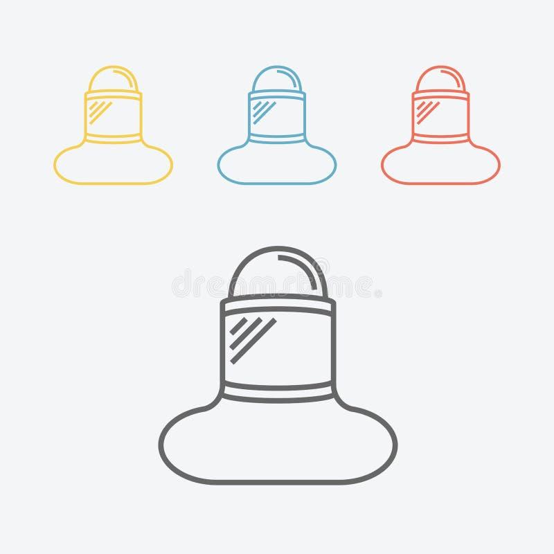 Línea icono de la visera ilustración del vector