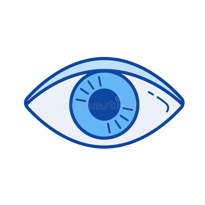 Línea icono de la visibilidad libre illustration