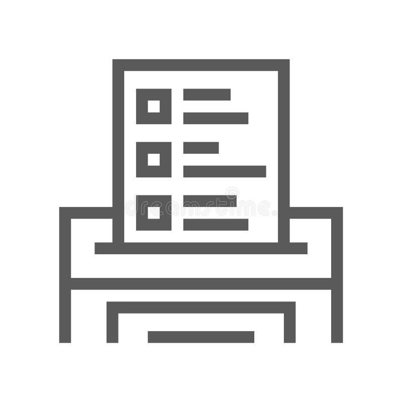 Línea icono de la votación y de las elecciones stock de ilustración