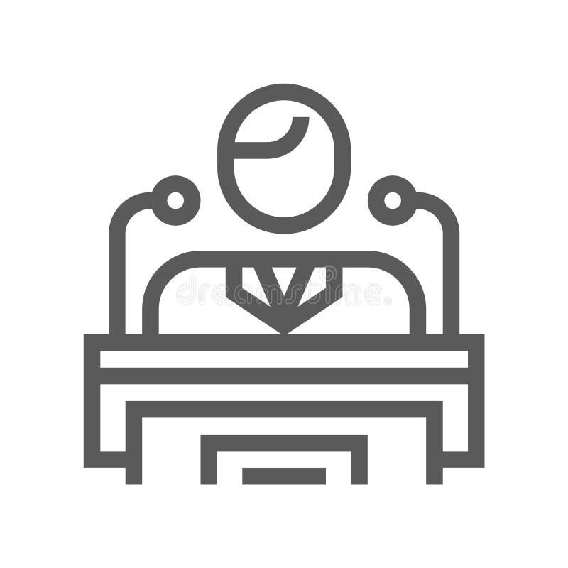 Línea icono de la votación y de las elecciones libre illustration