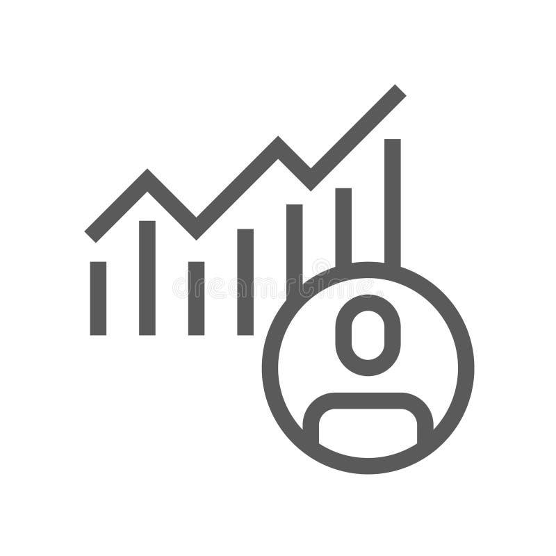 Línea icono de la votación y de las elecciones ilustración del vector
