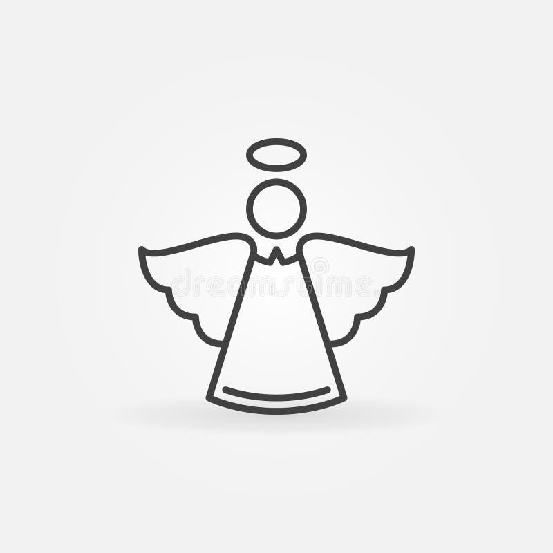 Línea icono del ángel - vector el símbolo del concepto de la Navidad libre illustration