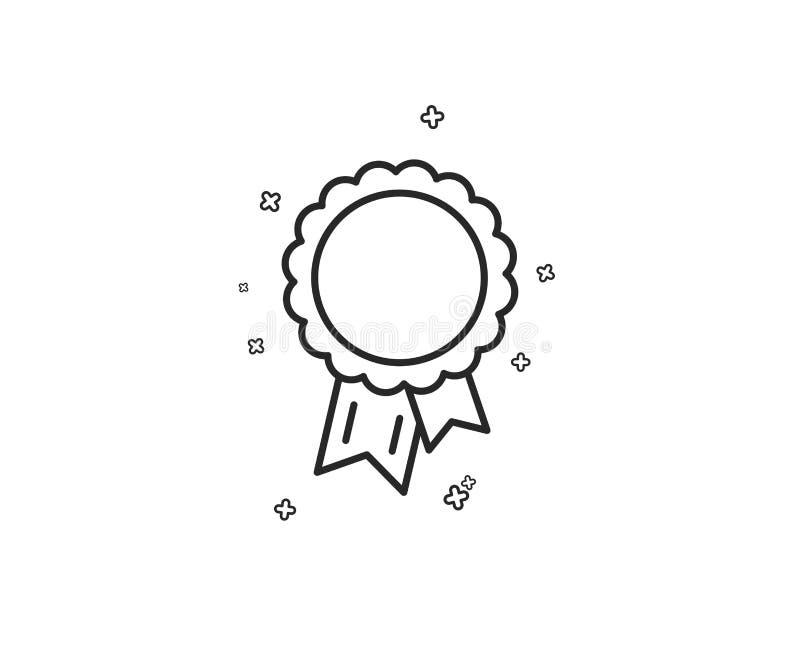 Línea icono del éxito Muestra de la medalla del ganador Vector libre illustration