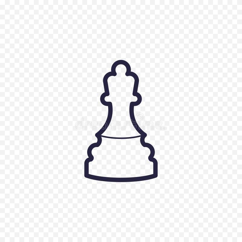 Línea icono del ajedrez ilustración del vector