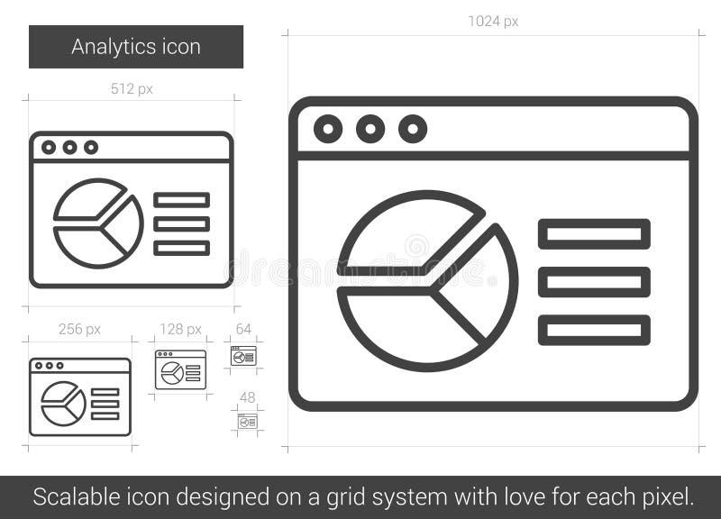 Línea icono del Analytics libre illustration