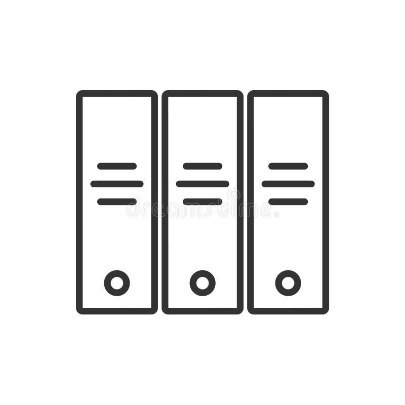 Línea icono del archivo en un fondo blanco stock de ilustración