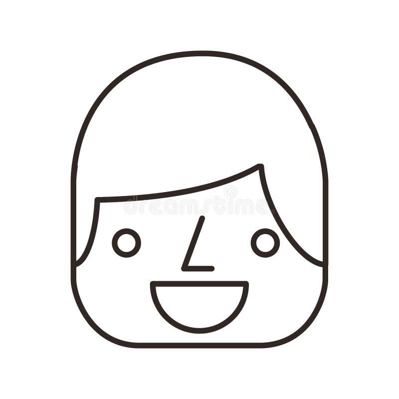 línea icono del avatar del hombre de negocios ilustración del vector