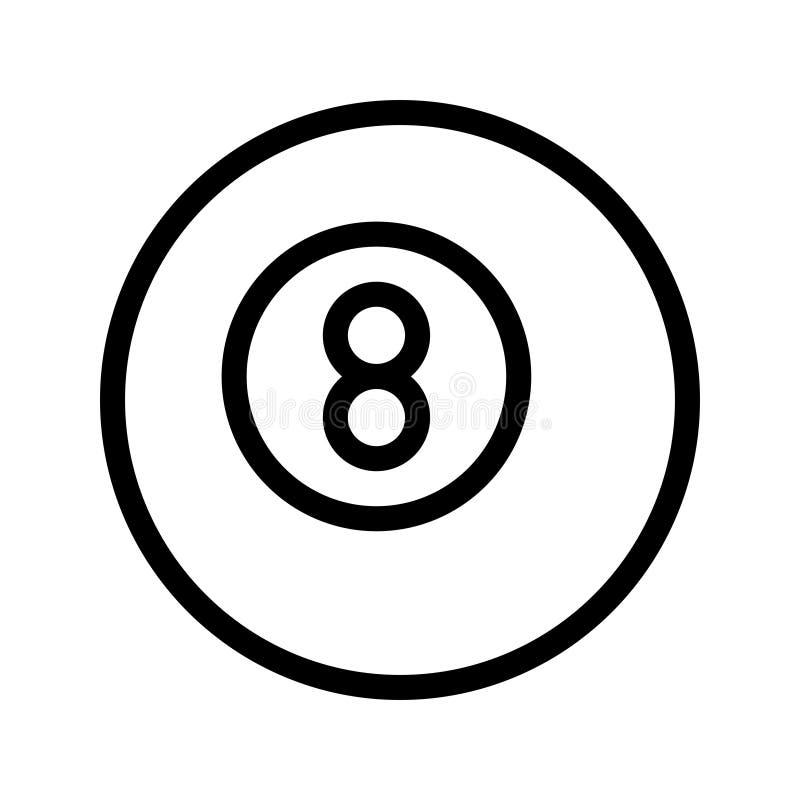 Línea icono del billar del vector ilustración del vector