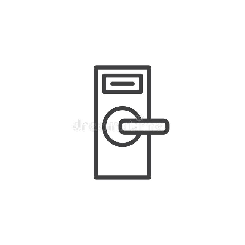 Línea icono del botón de puerta ilustración del vector