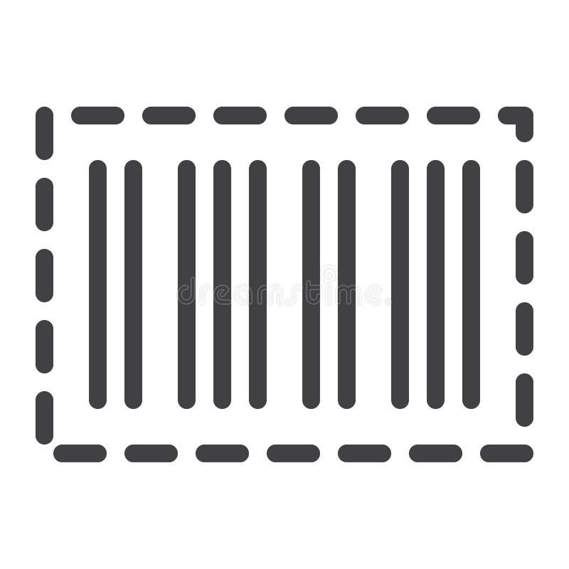 Línea icono del código de barras stock de ilustración