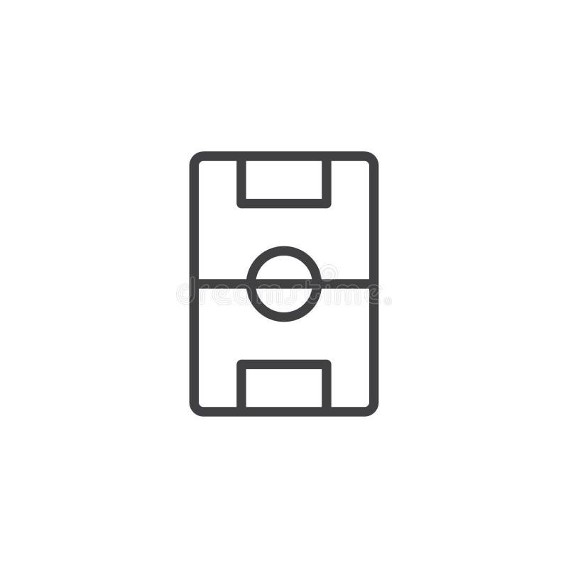 Línea icono del campo de fútbol ilustración del vector