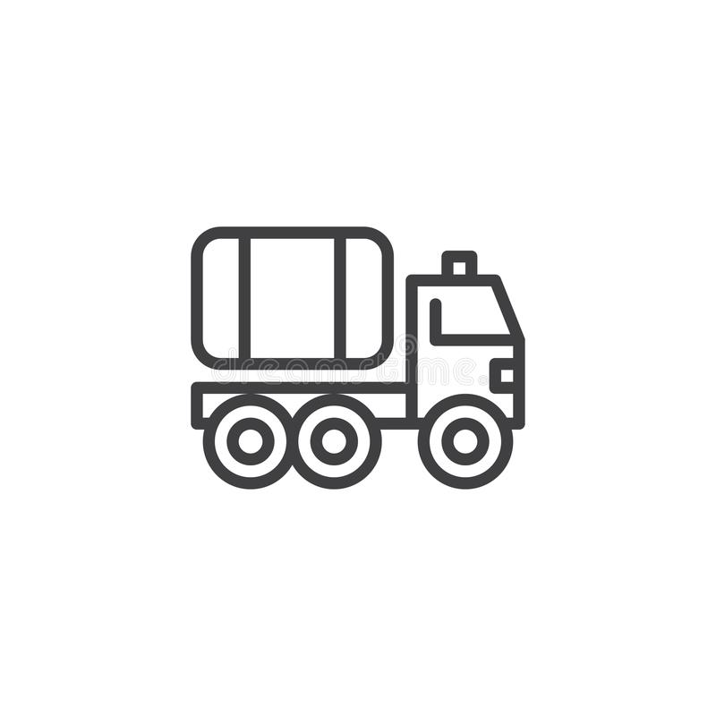 Línea icono del coche de bomberos stock de ilustración