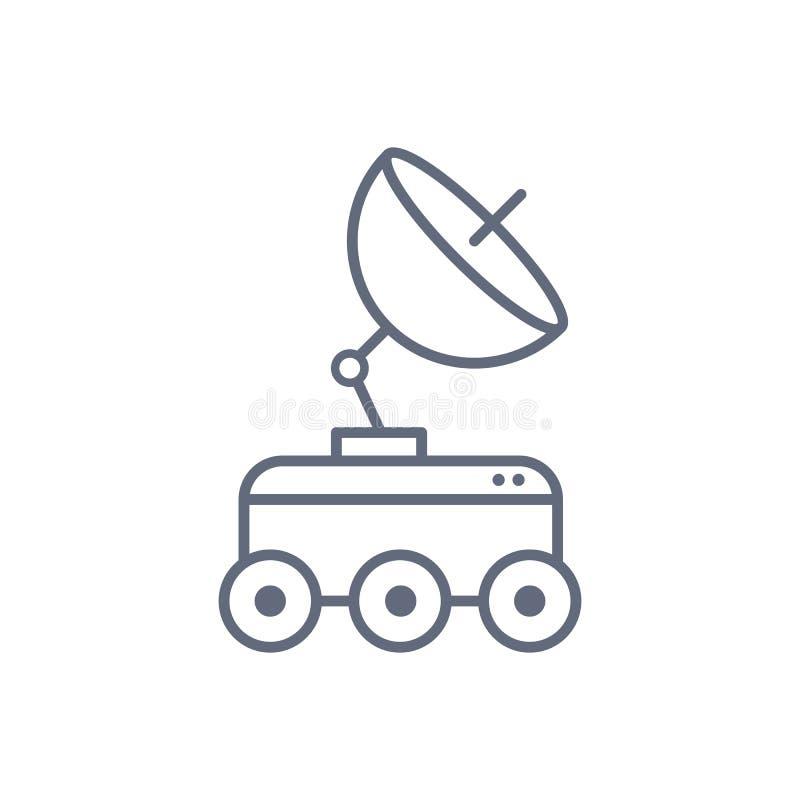Línea icono del concepto del vagabundo de la luna Ejemplo simple del elemento diseño del símbolo del esquema del concepto del vag libre illustration