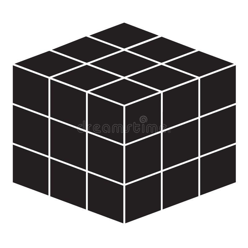 Línea icono del cubo de la matemáticas en el fondo blanco Estilo plano icono geométrico simple para su diseño del sitio web, logo ilustración del vector