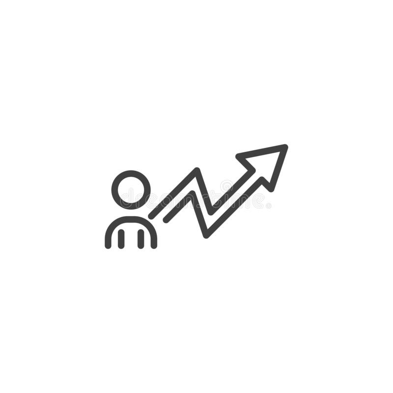 Línea icono del desarrollo de carrera libre illustration