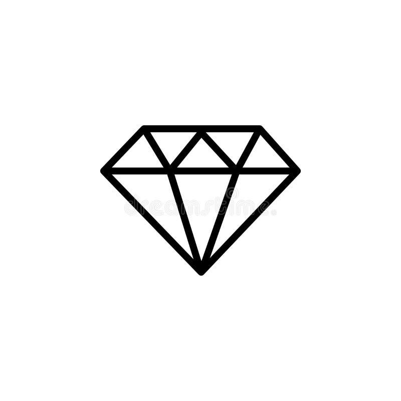 Línea icono del diamante stock de ilustración