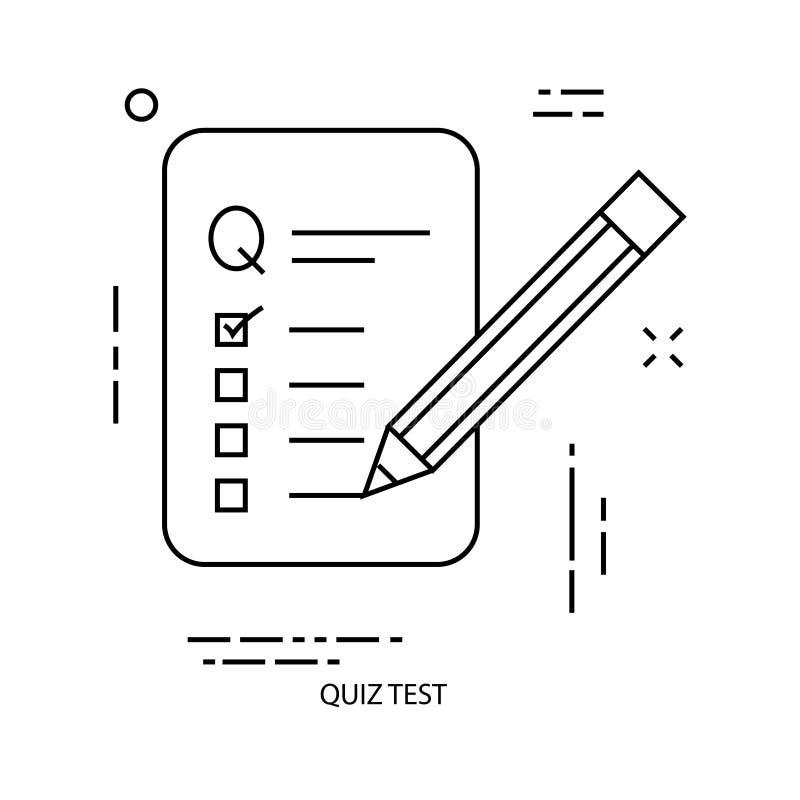 Línea icono del documento ilustración del vector