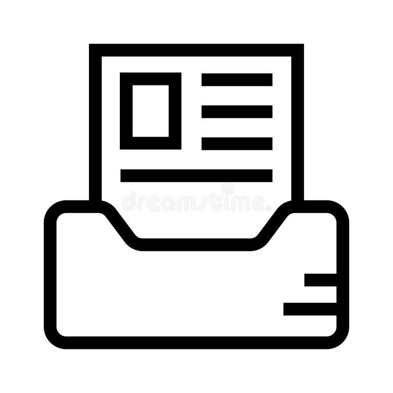 Línea icono del documento stock de ilustración