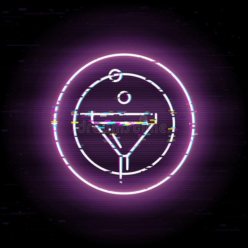 Línea icono del embudo de las ventas del vector del arte libre illustration