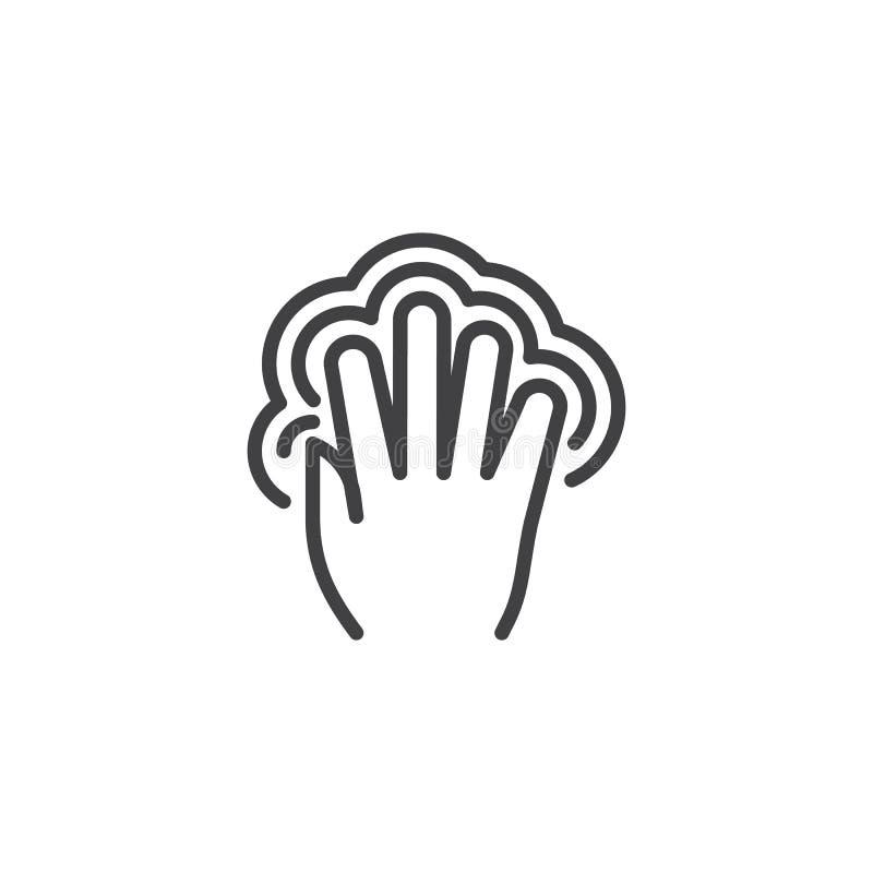 línea icono del golpecito del doble 5x stock de ilustración