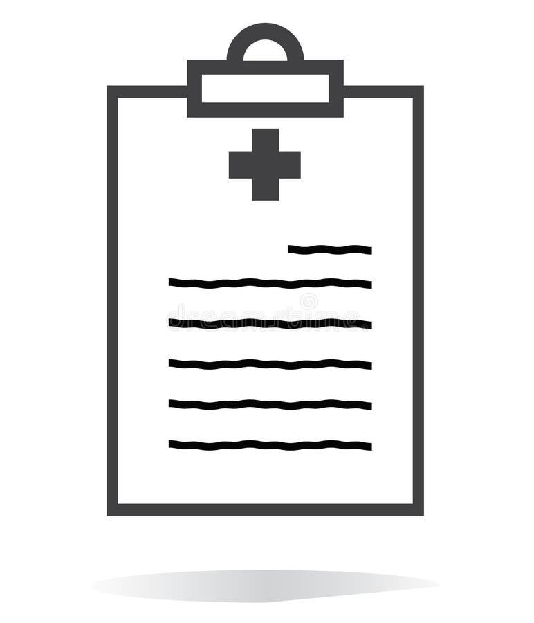 Línea icono del informe médico en el fondo blanco Estilo plano icono para su diseño del sitio web, logotipo, app, UI del informe  libre illustration