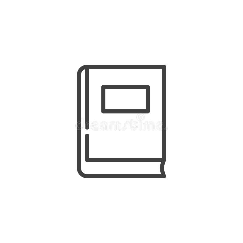 Línea icono del libro de la biblioteca libre illustration