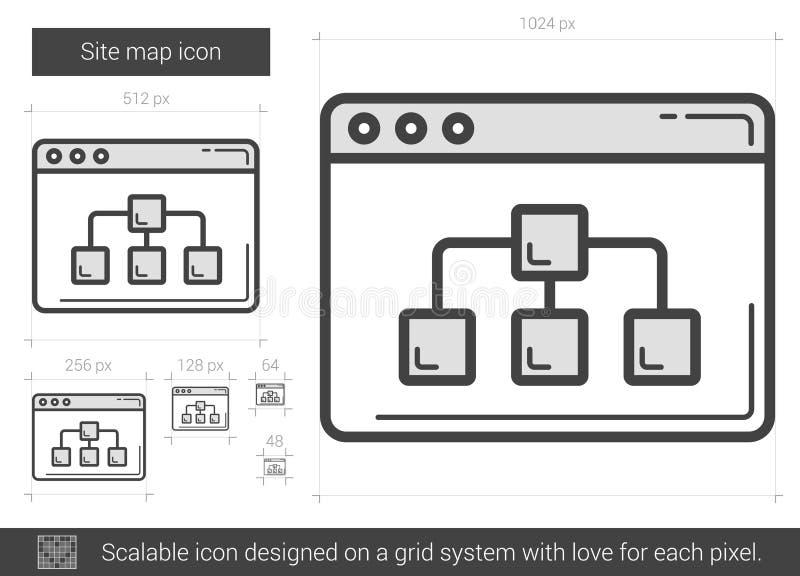 Línea icono del mapa de sitio libre illustration