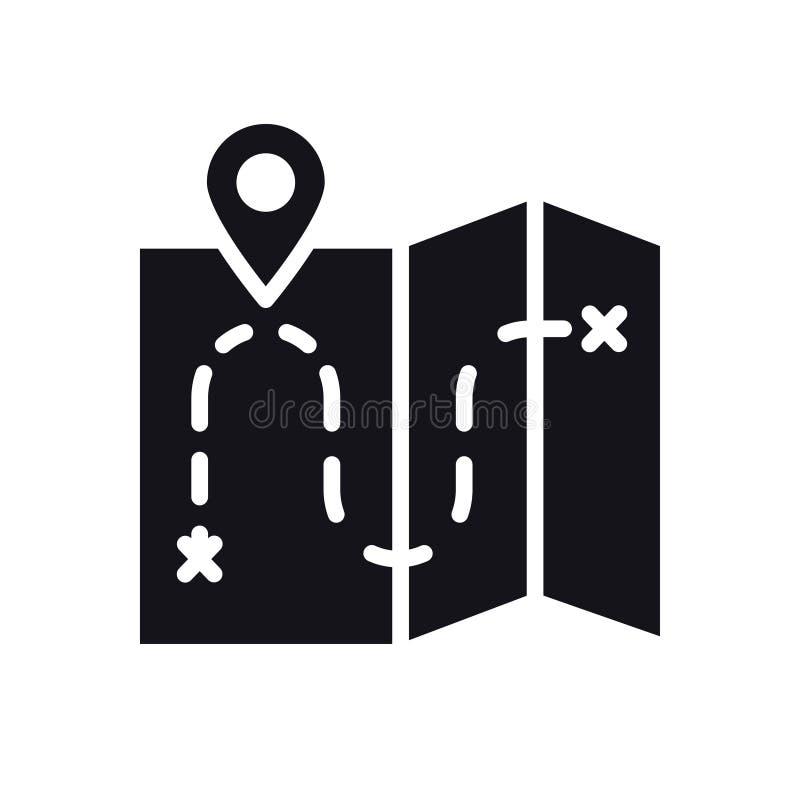 Línea icono del mapa Muestra y símbolo de la ubicación ilustración del vector