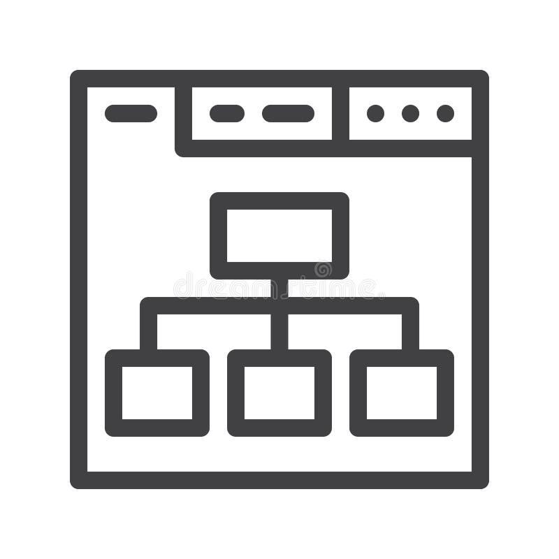 Línea icono del navegador stock de ilustración