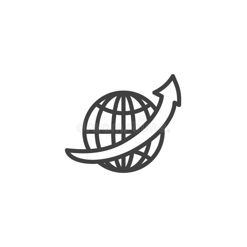 Línea icono del navegador de Internet libre illustration