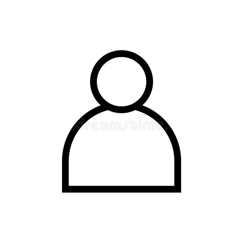 Línea icono del negro del avatar del perfil de usuario stock de ilustración