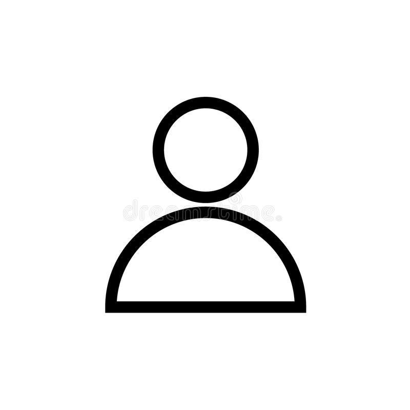 Línea icono del negro del avatar del perfil de usuario libre illustration