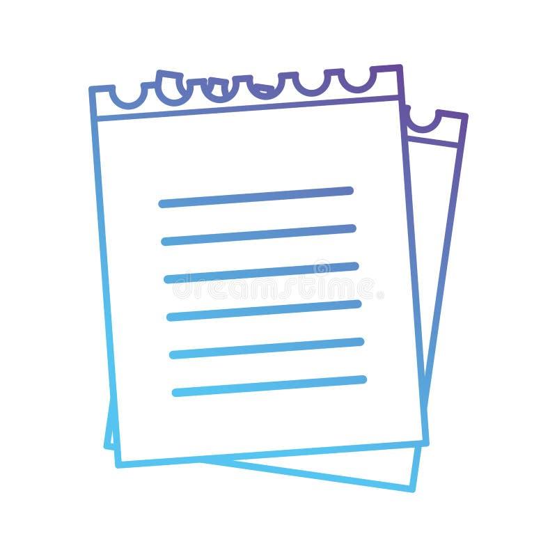 Línea icono del objeto de papeles del cuaderno libre illustration