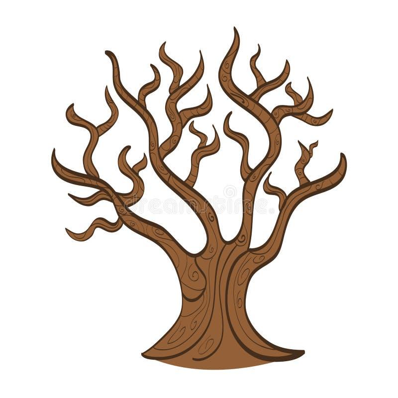 Línea icono del otoño de la planta del árbol libre illustration