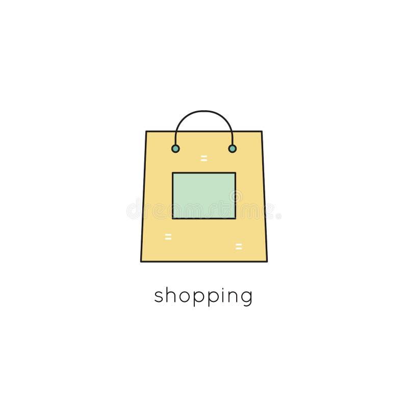 Línea icono del panier stock de ilustración
