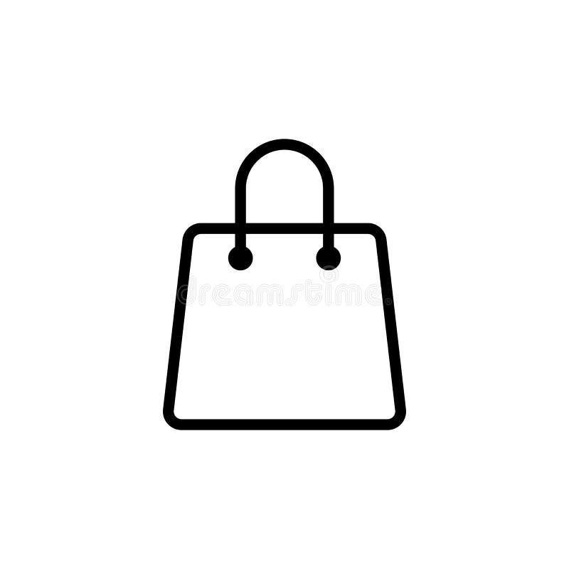línea icono del panier en el fondo blanco stock de ilustración