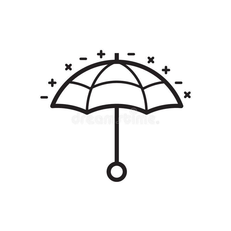 Línea icono del paraguas o del parasol libre illustration