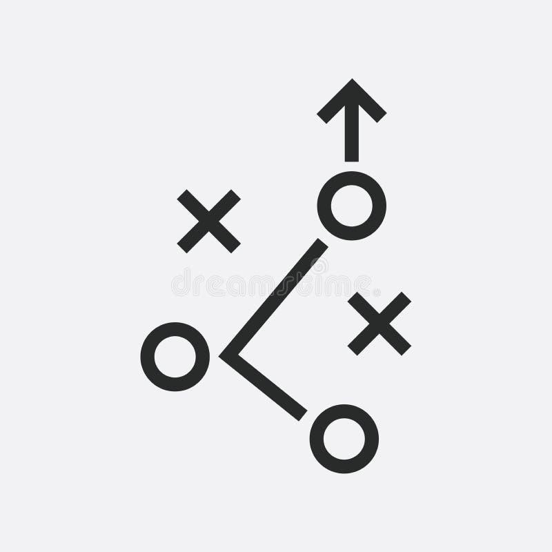 Línea icono del plan táctico ilustración del vector